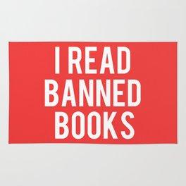 I Read Banned Books - White Font Rug