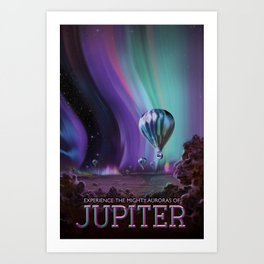 Visions of the Future: The Mighty Jupiter Art Print