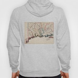 Vintage Map of Connecticut (1819) Hoody