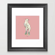 Stay happy! Framed Art Print