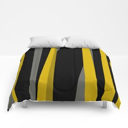 yellow gray and black Comforters