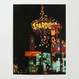 Vintage Vegas Strip Poster