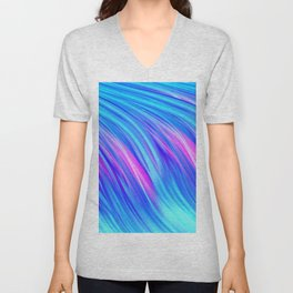 Waterfall,  abstract Unisex V-Neck
