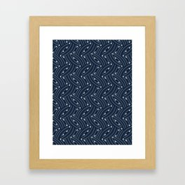 Woven Lines Arrows Geometric Graphic Framed Art Print