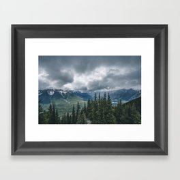 Mountainous Landscape Banff Gondola Framed Art Print