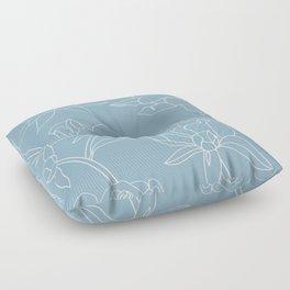 Rose on white Floor Pillow