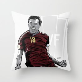 Juan Arango Vinotinto - Trinchera Creativa Throw Pillow