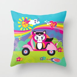 Baby Scoot ( Girls ) Throw Pillow