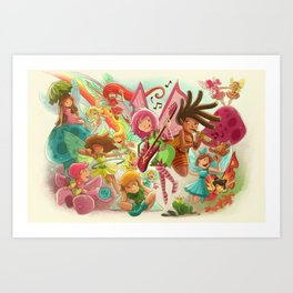 Goblins Drool, Fairies Rule! - Team Fairy Art Print