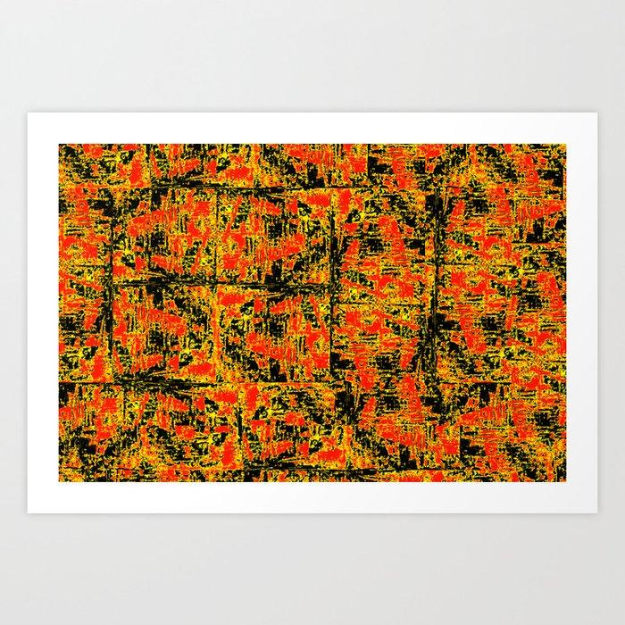 Golden Red Art Print