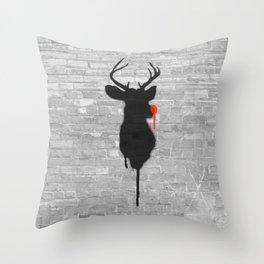Street Rudolph Throw Pillow