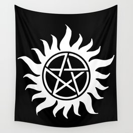 Anti Possession Sigil White Wall Tapestry