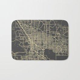 Tucson Map yellow Bath Mat