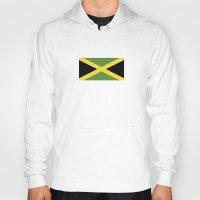 jamaica Hoodies featuring jamaica country flag  by tony tudor