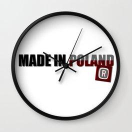 Made in Poland, patriotic shirts, country proud tee shirt design v.2 shadowed Wall Clock