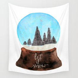 Let it Snow(globe) Wall Tapestry