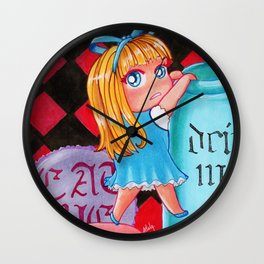 Alice In Wonderland chibi Wall Clock