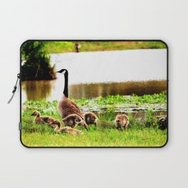 Canada Goose and Goslings Laptop Sleeve