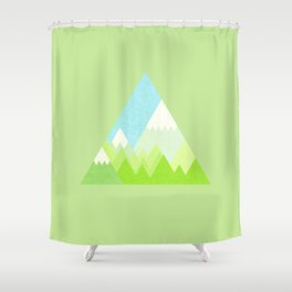 national park geometric pattern Shower Curtain