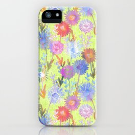 Gillian Floral Lime iPhone Case