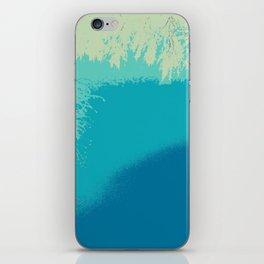 Blue fall iPhone Skin
