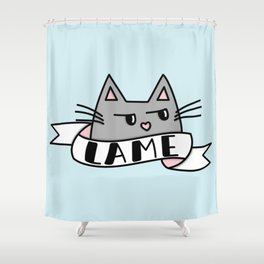 Unimpressed Shower Curtain