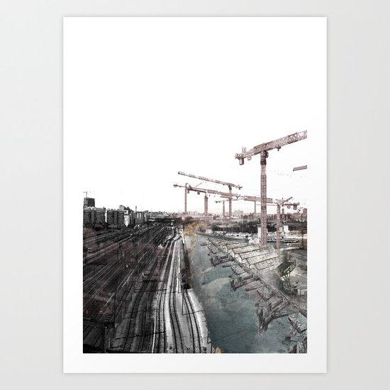 Paris d'avenir 6 Art Print