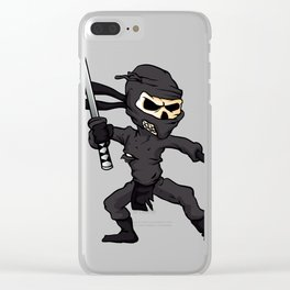 skull ninja cartoon. Clear iPhone Case
