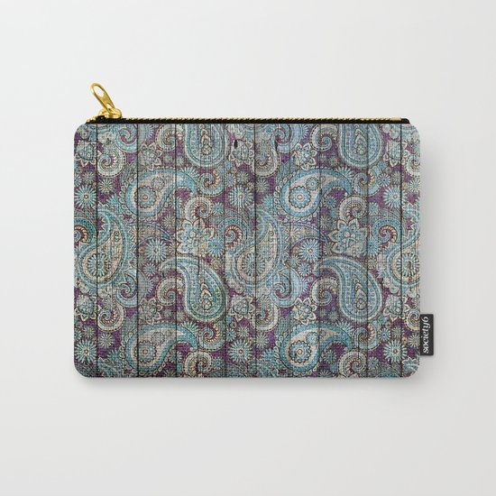 Kashmir on Wood 06 Carry-All Pouch