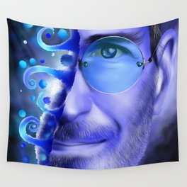 Joblerium - blue portrait Wall Tapestry