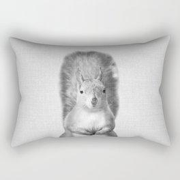 Squirrel - Black & White Rectangular Pillow