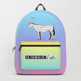 Unicorn cuts funny meat from unicorns pastel rainbow Backpack