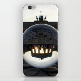 Brandenburg Gate, Berlin Germany / Glass Ball Photography iPhone Skin