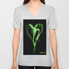 Painted Heart Unisex V-Neck