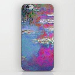 Water Lillies - Claude Monet (plastic pink) iPhone Skin