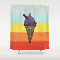 icecream Shower Curtains featuring Icecream by Zayth