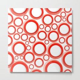 Red Cicles 01 Metal Print