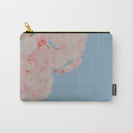 Pink Flowers in Blue Sky Carry-All Pouch