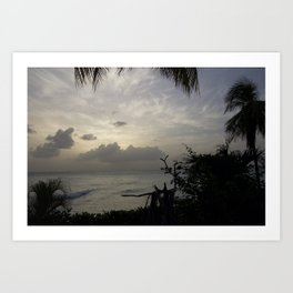 Barbados Sunset Art Print
