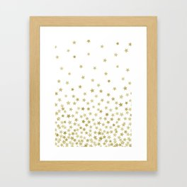 STARS GOLD Framed Art Print