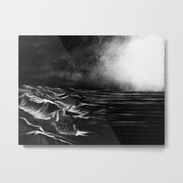 Silencing the Storm Metal Print