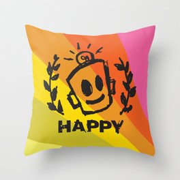 International Day of HAPPINESS Throw Pillow