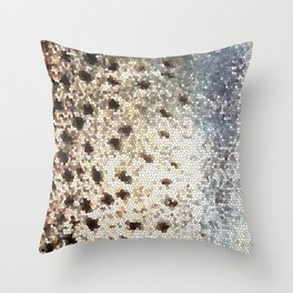 Trout Scales Throw Pillow