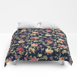 Shabby Floral Print Comforters