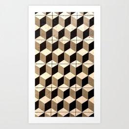 Isomorphic Cubes Art Print