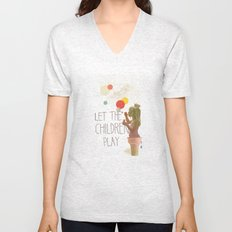 Let the children play Unisex V-Neck