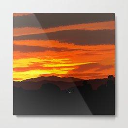 Oil Paintings in A Sunset Metal Print