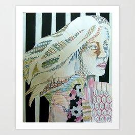 Pattern Girl Art Print