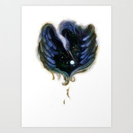 Heron Night Art Print