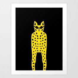 Leopard in Dark Glasses - Cool Cat Dude! Art Print